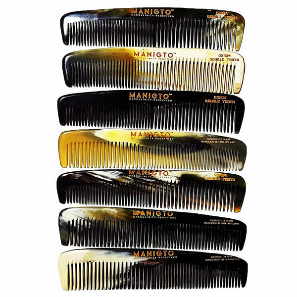Oxism Double Tooth Comb - Ox Horn Comb, Comb - MANIGTO