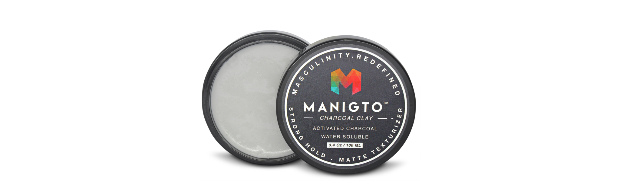 CHARCOAL CLAY 100ML / 3.5OZ, HAIR GROOMING - MANIGTO