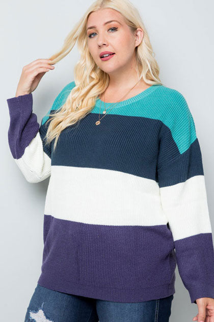 striped oversized sweater trend