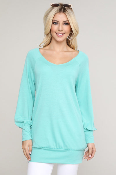 Pick Me Long Sleeve Tunic Top - Charming You Boutique | Online Women's Clothing