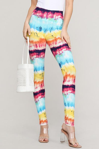 Charming You Boutique | Womens Leggings | Floral and Multi Stripe Pant