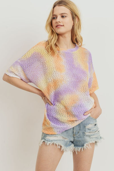 Charming You Boutique | Women's Top | Short Sleeve Tie Dye Knit Top
