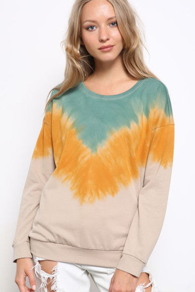 Charming You Boutique | Women's Top | Ombre Long Sleeve Sweatshirt
