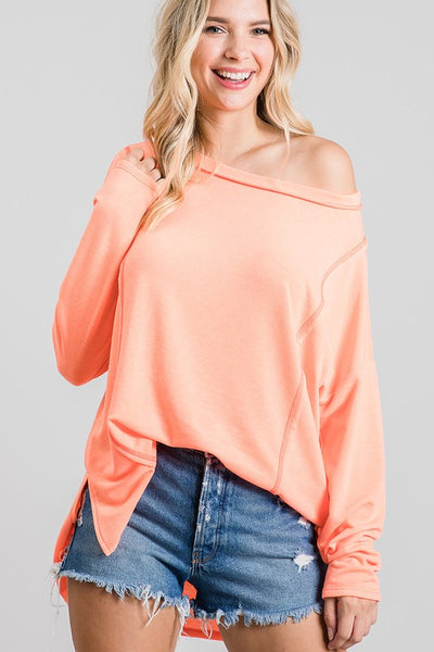 Charming You Boutique | Women's Top | Long Sleeve Solid Crew Neck Top