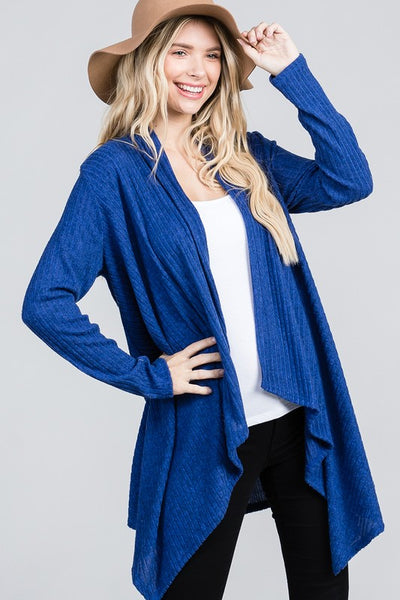 Charming You Boutique | Women's Cardigan | Long Sleeve Brushed Open