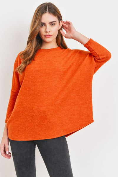 Charming You Boutique | Women's Top Oversized Long Sleeve Wool Brushed