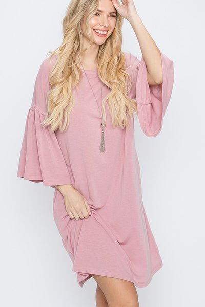 Charming You Boutique | Women's Dress | Drop Shoulder Bell Sleeves