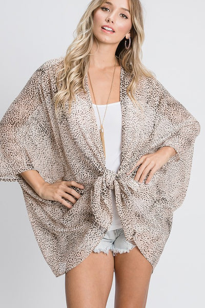 Charming You Boutique | Women's Kimono | Chiffon Open Front Cardigan