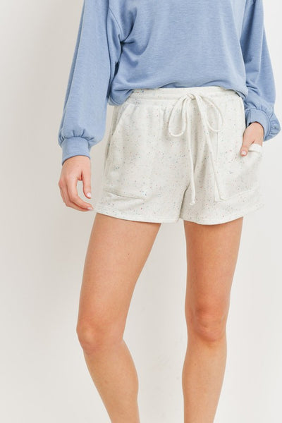 Charming You Boutique | Women's French Terry Knit Shorts, ivory