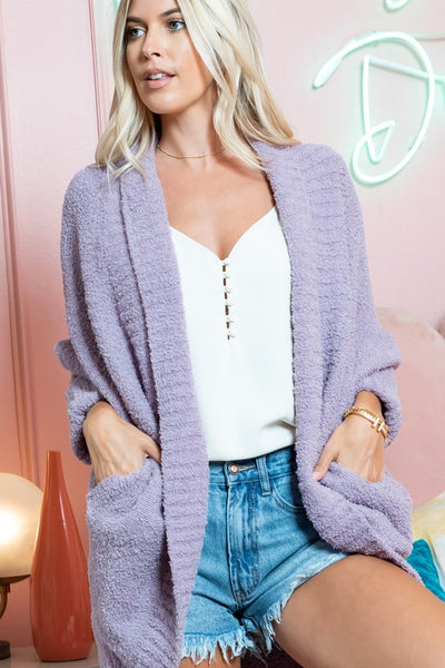 Charming You Boutique | Women's Outerwear | Comfy Fluffy Knit Cardigan