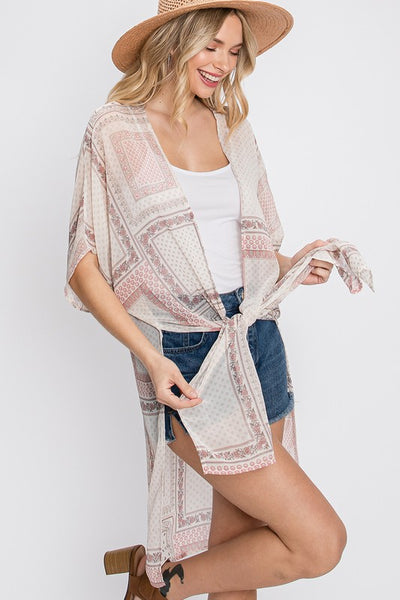 Charming You Boutique | Women's Outerwear Short Sleeve Kimono Cardigan