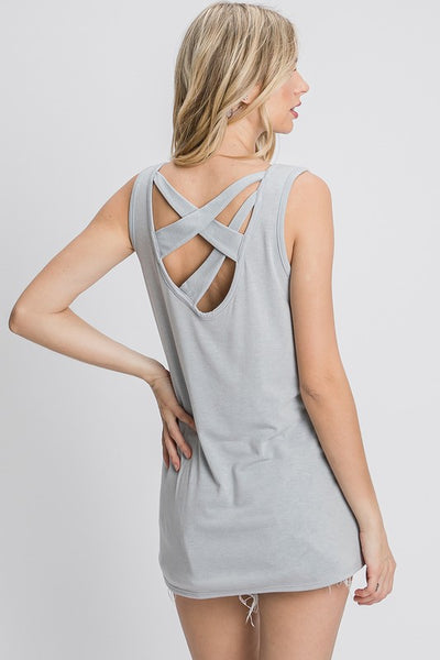 Charming You Boutique | Women's Basic Sleeveless Tank Top, grey