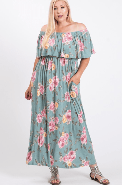 Charming You Boutique | Women's Dress | Plus Size Floral Maxi Dress