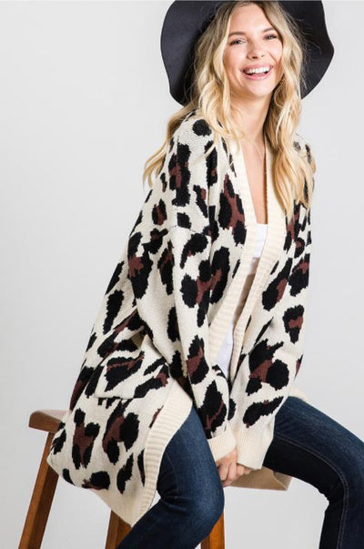 Charming You Boutique | Women's Cardigan | Leopard Print Cardigan