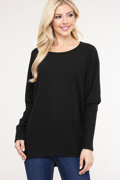 Charming You Boutique | Women's Top | Trendy Cashmere Hacci Dolman Top