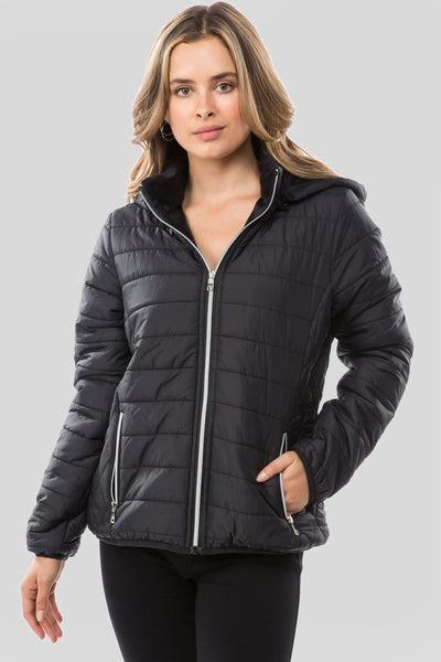 Charming You Boutique | Women's Jacket | Trendy Hooded Puffer Jacket