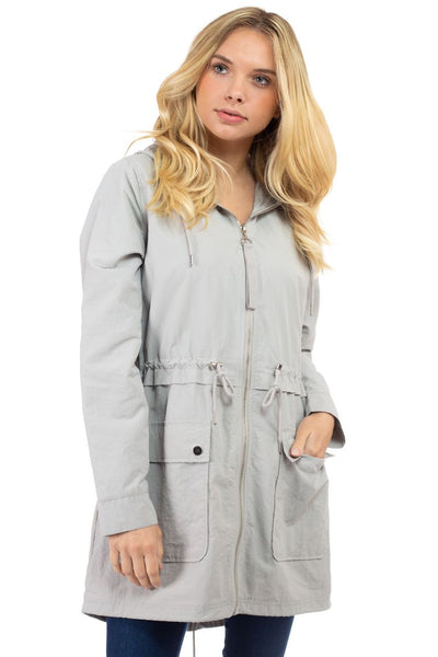 Charming You Boutique | Women's Jacket | Zip-Up Front Hooded Anorak