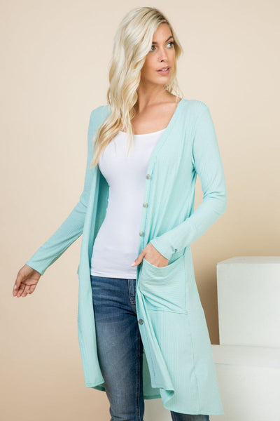Piece It Together Button-Up Long Cardigan - Charming You Boutique | Online Women's Clothing