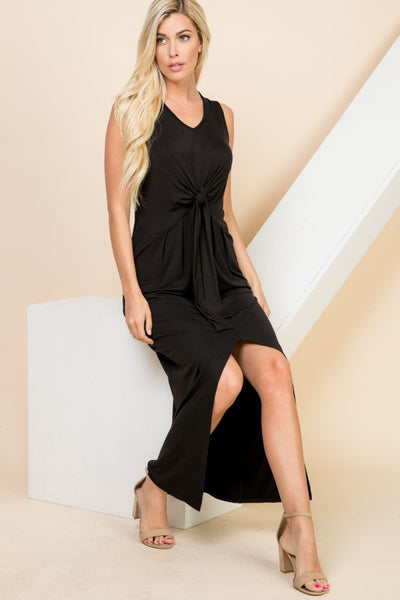 Charming You Boutique | Women's Dress | Solid Sleeveless Maxi Dress
