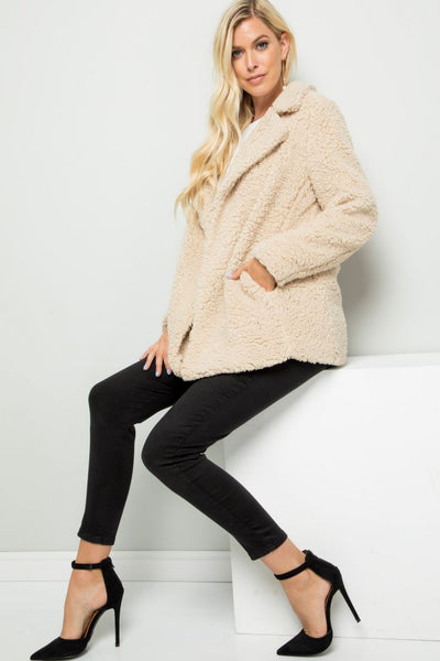 What Might Have Been Heavy Sherpa Coat - Charming You Boutique | Online Women's Clothing