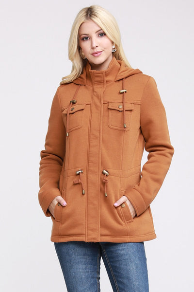 Charming You Boutique | Women's Jacket | Fall French Terry Hooded