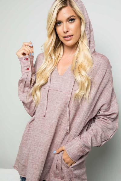Moving On Without You Long Sleeve Hooded Pullover - Charming You Boutique | Online Women's Clothing