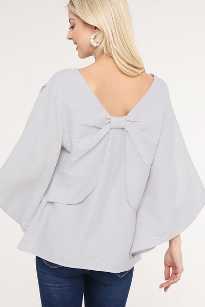 Charming You Boutique | Women's Top | Woven Solid 3/4 Sleeves Blouse
