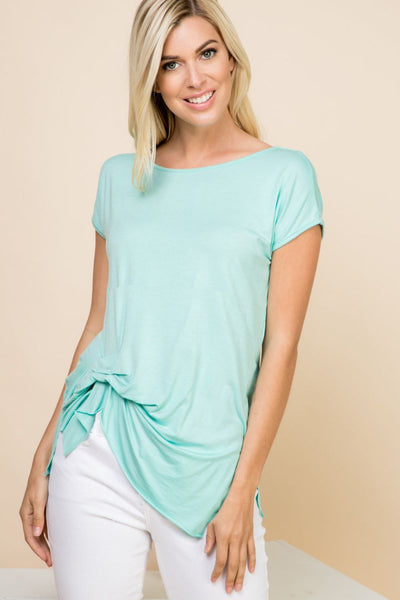 Charming You Boutique | Women's Top | Comfy Pleat Short Sleeve Top