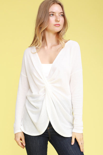 Charming You Boutique | Women's Top | Long Sleeve Twisted Detail Top