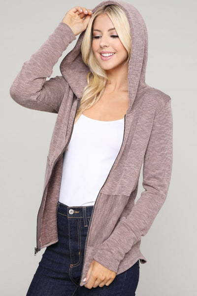 Charming You Boutique | Women's Hoodie | Zip Up Long Sleeve Hooded Top