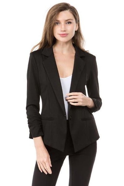 Charming You Boutique | Women's Blazer | Long Sleeve Solid Blazer