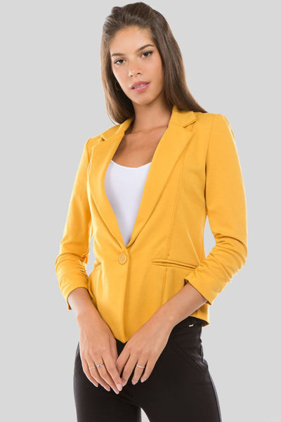Sweet Intentions Stretchy Solid Blazer - Charming You Boutique | Online Women's Clothing