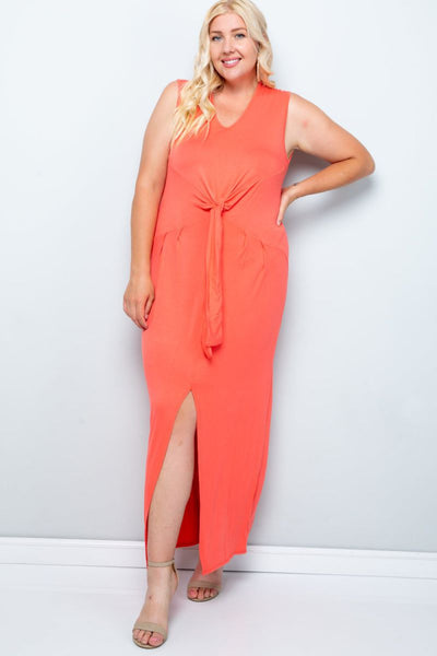 Charming You Boutique | Womens Dress | Plus Size Sleeveless Maxi Dress