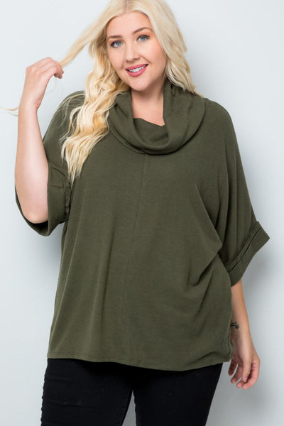 Plus Size You Know I Adore You Cowl Neck Top - Charming You Boutique | Online Women's Clothing