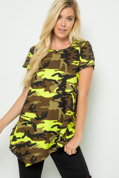 Charming You Boutique | Women's Top | Extraordinary You Camo Tunic Top