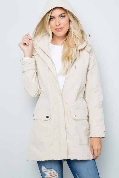 Charming You Boutique | Women's Jacket | Hooded Zip Up Anorak Jacket