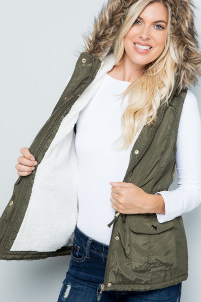 Stars For The Soul Waterproof Anorak Vest - Charming You Boutique | Online Women's Clothing