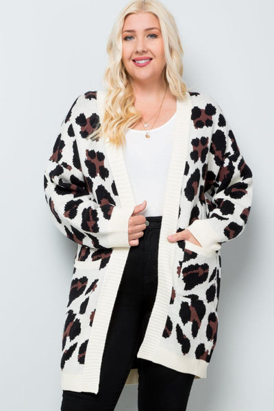 Charming You Boutique | Women's Cardigan | Plus Size Animal Print