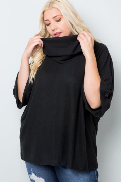Charming You Boutique | Women's Top | Plus Size Short Sleeve Poncho