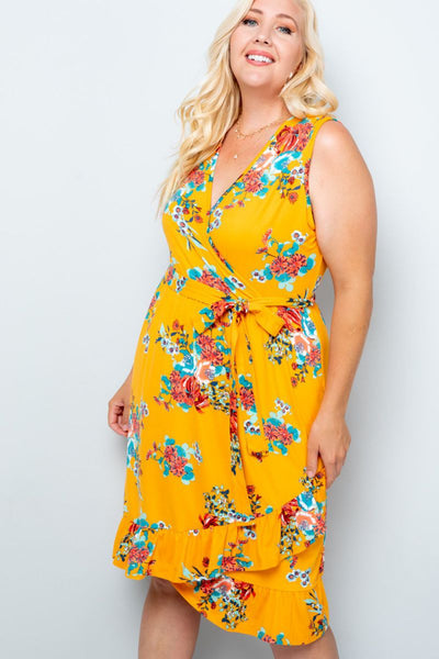 Charming You Boutique | Women's Dress|Plus Size Floral Sleeveless Maxi