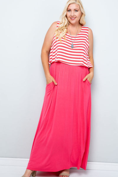 Charming You Boutique | Women's Dress |Plus Size Sleeveless Maxi Dress