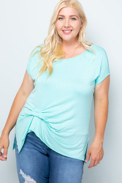 Charming You Boutique | Women's Top | Plus Size Short Sleeve Top