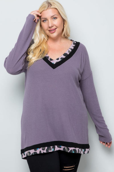Charming You Boutique | Women's Top | Plus Size Long Sleeve Pullover