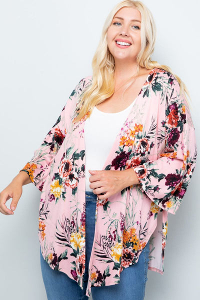 Charming You Boutique | Women's Cardigan | Plus Size Floral Kimono