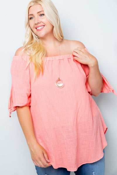 Charming You Boutique | Womens Top | Plus Size Trendy Off Shoulder Top