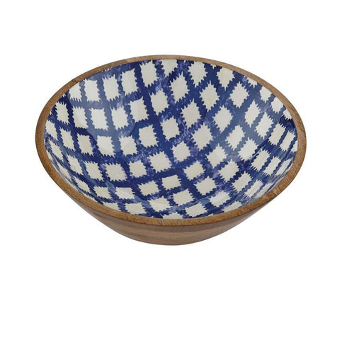 Bungalow Wood & Enamel Bowl Large