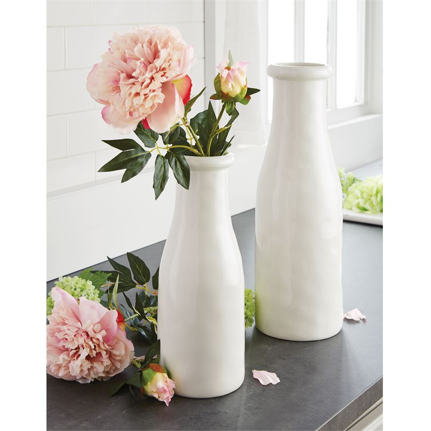 CERAMIC MILK BOTTLES VASE
