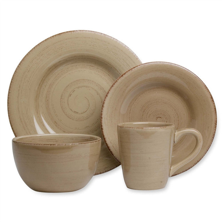 Tan Sonoma Tag 4 Place Setting Dishes Set