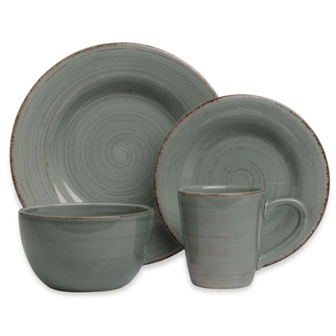 Slate Blue Tag Sonoma 4 Place Setting Dishes Set