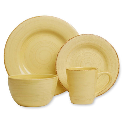 Yellow Tag Sonoma 4 Place Settings Dishes Set